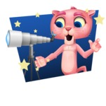 Pink Panther Cartoon Vector Character - Shape 4