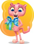 Pink Panther Cartoon Vector Character - Shape 5
