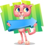 Pink Panther Cartoon Vector Character - Shape 8