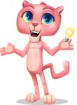 Pink Panther Cartoon Vector Character - with an Idea