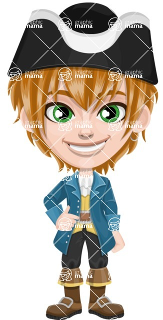Pirate Boy Cartoon Vector Character AKA Willy - Normal