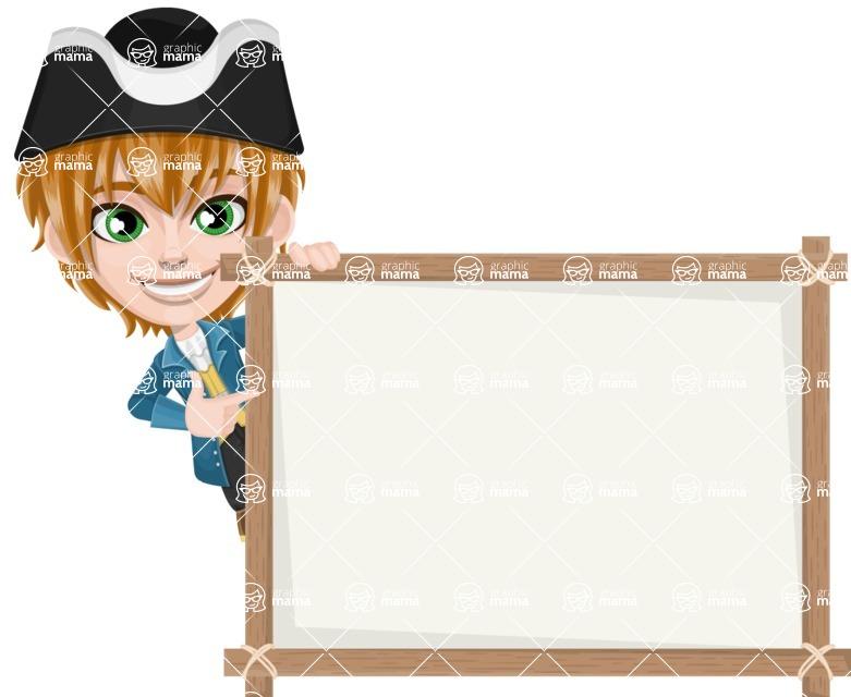 Pirate Boy Cartoon Vector Character AKA Willy - Presentation 5