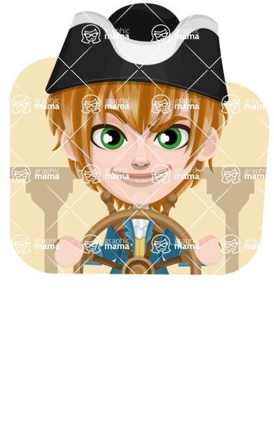 Pirate Boy Cartoon Vector Character AKA Willy - Shape 4