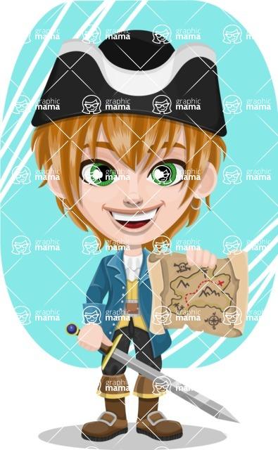 Pirate Boy Cartoon Vector Character AKA Willy - Shape 5