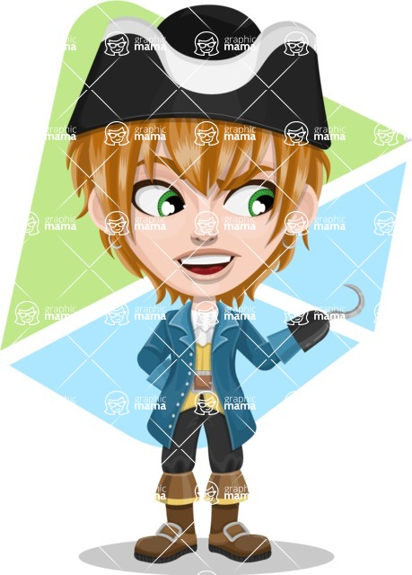 Pirate Boy Cartoon Vector Character AKA Willy - Shape 9