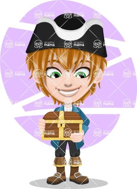 Pirate Boy Cartoon Vector Character AKA Willy - Shape 10