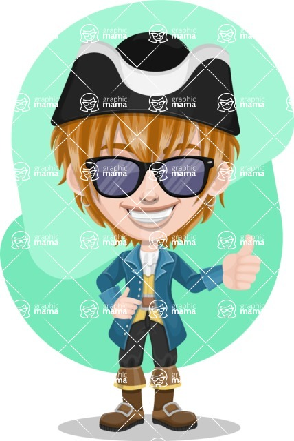 Pirate Boy Cartoon Vector Character AKA Willy - Shape 11