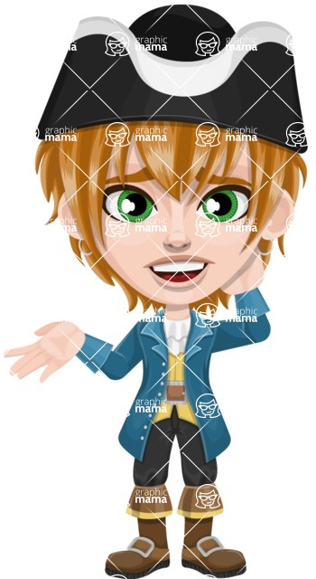 Pirate Boy Cartoon Vector Character AKA Willy - Sorry