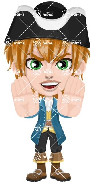 Pirate Boy Cartoon Vector Character AKA Willy - Stop 2