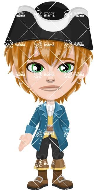 Pirate Boy Cartoon Vector Character AKA Willy - Sad 2