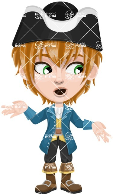 Pirate Boy Cartoon Vector Character AKA Willy - Lost 2