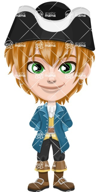 Pirate Boy Cartoon Vector Character AKA Willy - Patient