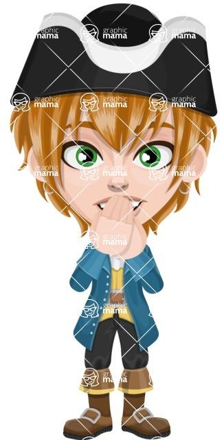 Pirate Boy Cartoon Vector Character AKA Willy - Blank