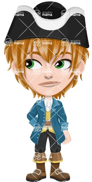 Pirate Boy Cartoon Vector Character AKA Willy - Bored