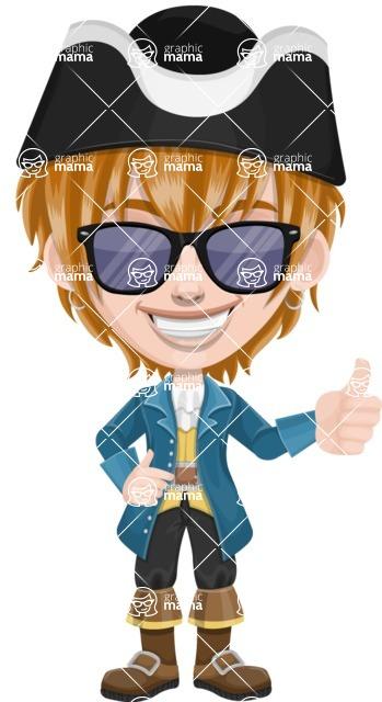 Pirate Boy Cartoon Vector Character AKA Willy - Sunglasses