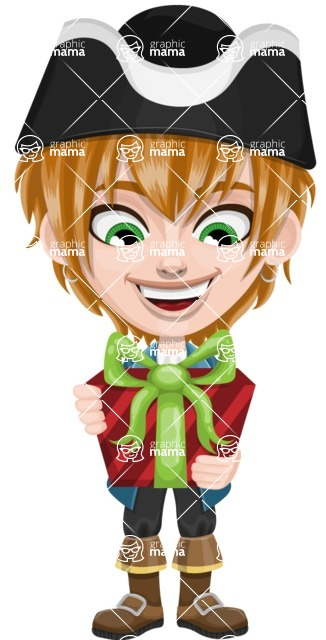 Pirate Boy Cartoon Vector Character AKA Willy - Gift