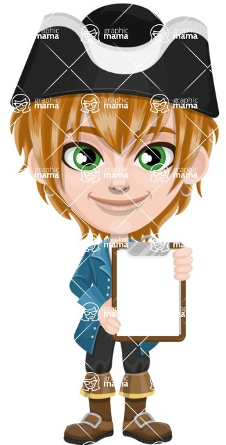 Pirate Boy Cartoon Vector Character AKA Willy - Note 3