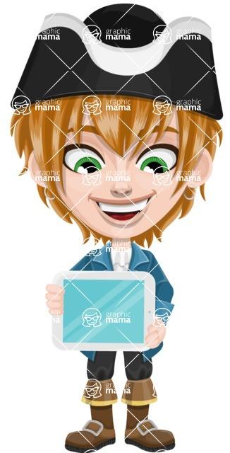 Pirate Boy Cartoon Vector Character AKA Willy - iPad 2