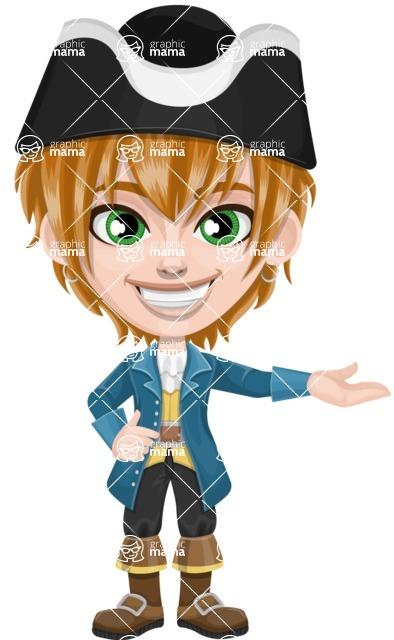 Pirate Boy Cartoon Vector Character AKA Willy - Showcase
