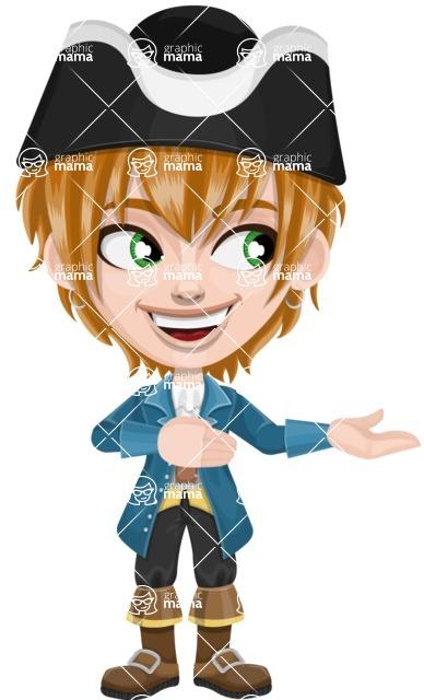 Pirate Boy Cartoon Vector Character AKA Willy - Showcase 2