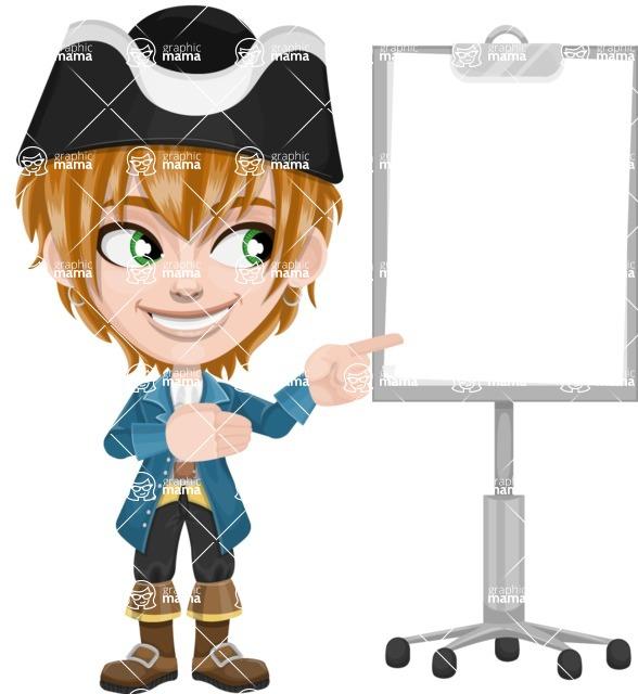 Pirate Boy Cartoon Vector Character AKA Willy - Presentation 2