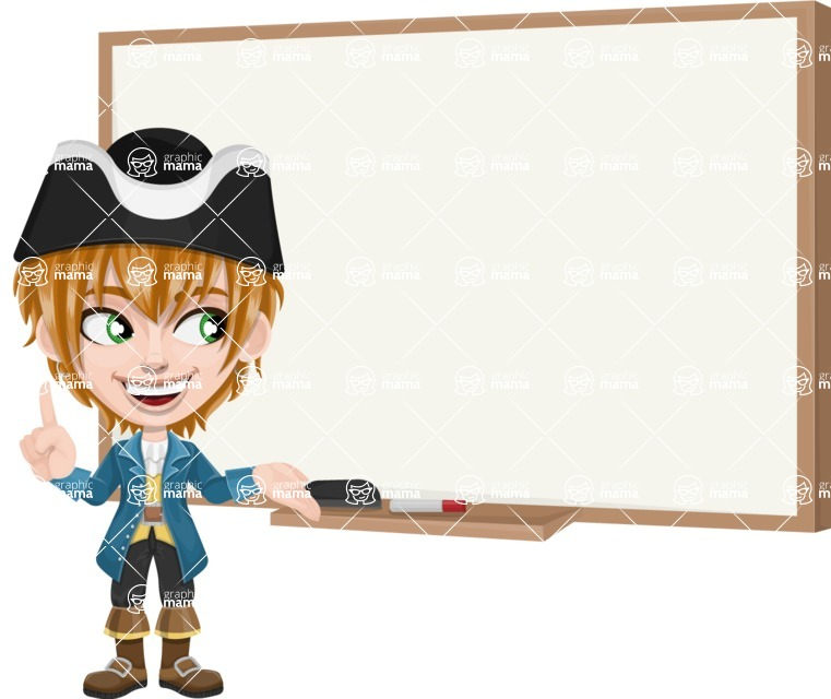 Pirate Boy Cartoon Vector Character AKA Willy - Presentation 3