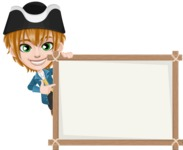 Pirate Boy Cartoon Vector Character AKA Willy - Presentation 5