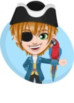 Pirate Boy Cartoon Vector Character AKA Willy - Shape 3