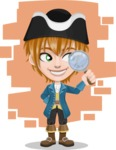 Pirate Boy Cartoon Vector Character AKA Willy - Shape 6
