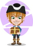 Pirate Boy Cartoon Vector Character AKA Willy - Shape 10