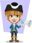 Pirate Boy Cartoon Vector Character AKA Willy - Shape 12