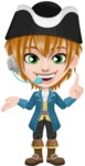 Pirate Boy Cartoon Vector Character AKA Willy - Support 2