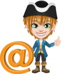 Pirate Boy Cartoon Vector Character AKA Willy - E-mail