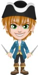 Pirate Boy Cartoon Vector Character AKA Willy - Daggers