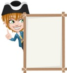 Pirate Boy Cartoon Vector Character AKA Willy - Presentation 4