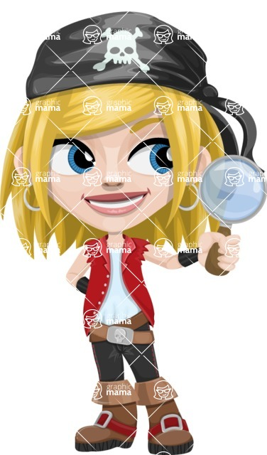 Girl with Pirate Costume Cartoon Vector Character AKA Dea - Search
