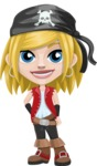 Girl with Pirate Costume Cartoon Vector Character AKA Dea - Normal