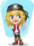 Girl with Pirate Costume Cartoon Vector Character AKA Dea - Shape 8