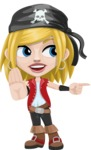 Girl with Pirate Costume Cartoon Vector Character AKA Dea - Direct Attention 2