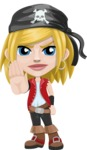 Girl with Pirate Costume Cartoon Vector Character AKA Dea - Stop