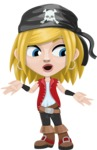 Girl with Pirate Costume Cartoon Vector Character AKA Dea - Lost 2