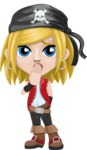Girl with Pirate Costume Cartoon Vector Character AKA Dea - Oops