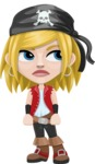 Girl with Pirate Costume Cartoon Vector Character AKA Dea - Bored 2