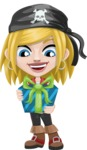 Girl with Pirate Costume Cartoon Vector Character AKA Dea - Gift