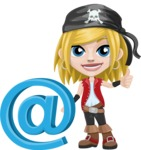 Girl with Pirate Costume Cartoon Vector Character AKA Dea - E-mail