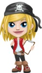 Girl with Pirate Costume Cartoon Vector Character AKA Dea - Note 1
