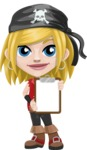 Girl with Pirate Costume Cartoon Vector Character AKA Dea - Note 3