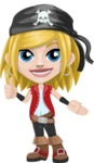 Girl with Pirate Costume Cartoon Vector Character AKA Dea - Show 2