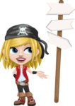 Girl with Pirate Costume Cartoon Vector Character AKA Dea - Crossroad