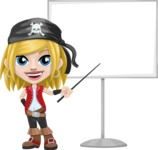 Girl with Pirate Costume Cartoon Vector Character AKA Dea - Presentation 1